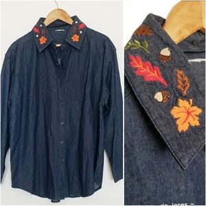 Tops - 2 for$25 oversized button down fall longsleeve top